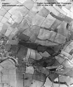 Edge Hill battlefield from the air