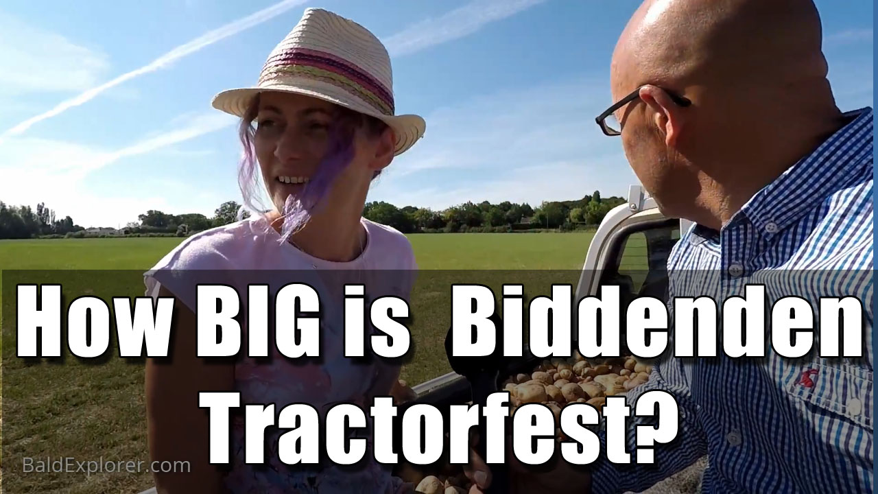 Exploring the size of the Biddenden Tractorfest site.