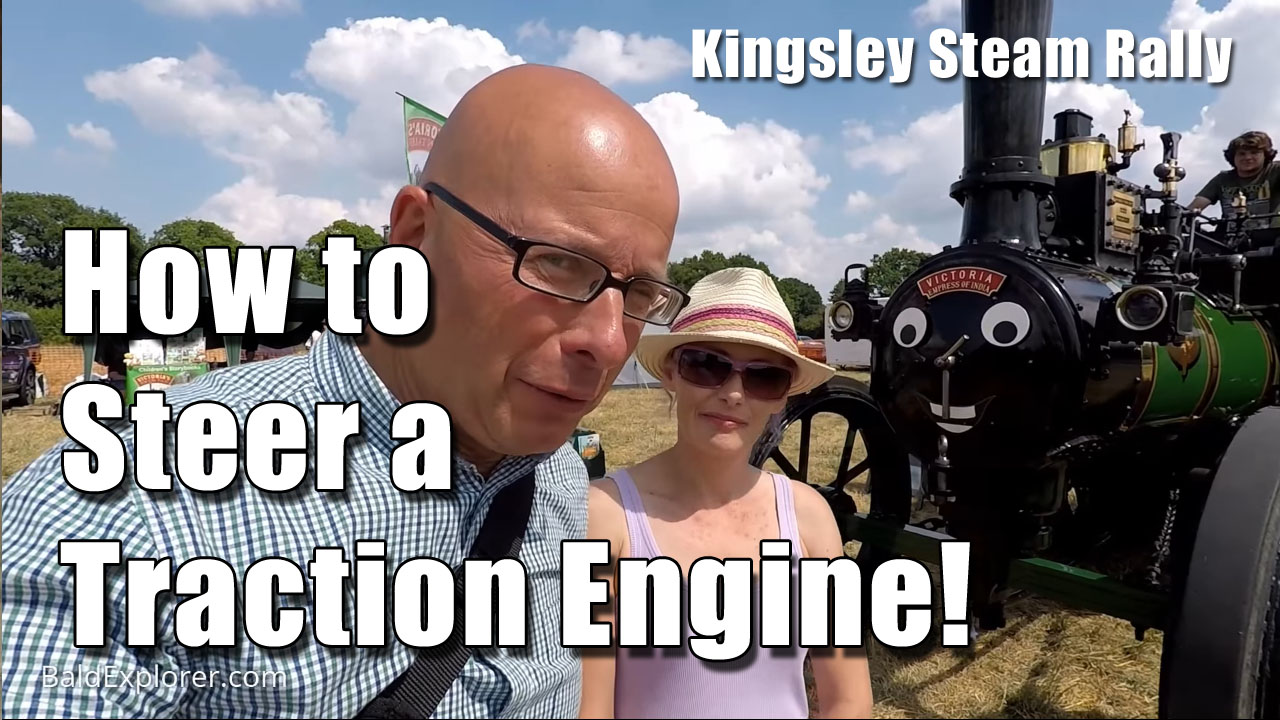 How to steer a traction engine.