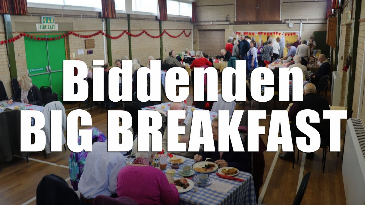 Today the lovely Julia Hartley and I attend the Big Breakfast at Biddenden Village Hall