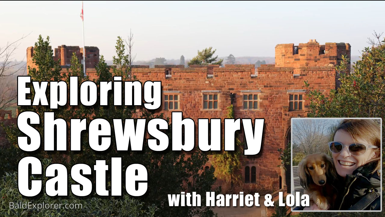 Exploring Shrewsbury Castle in Shropshire with Harriet and Lola