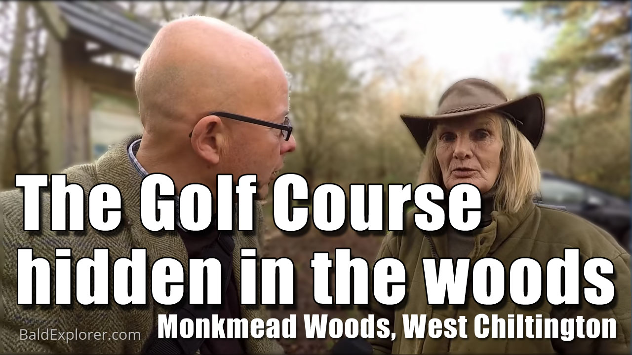 Exploring Monkmead Wood and golf course in West Chiltington