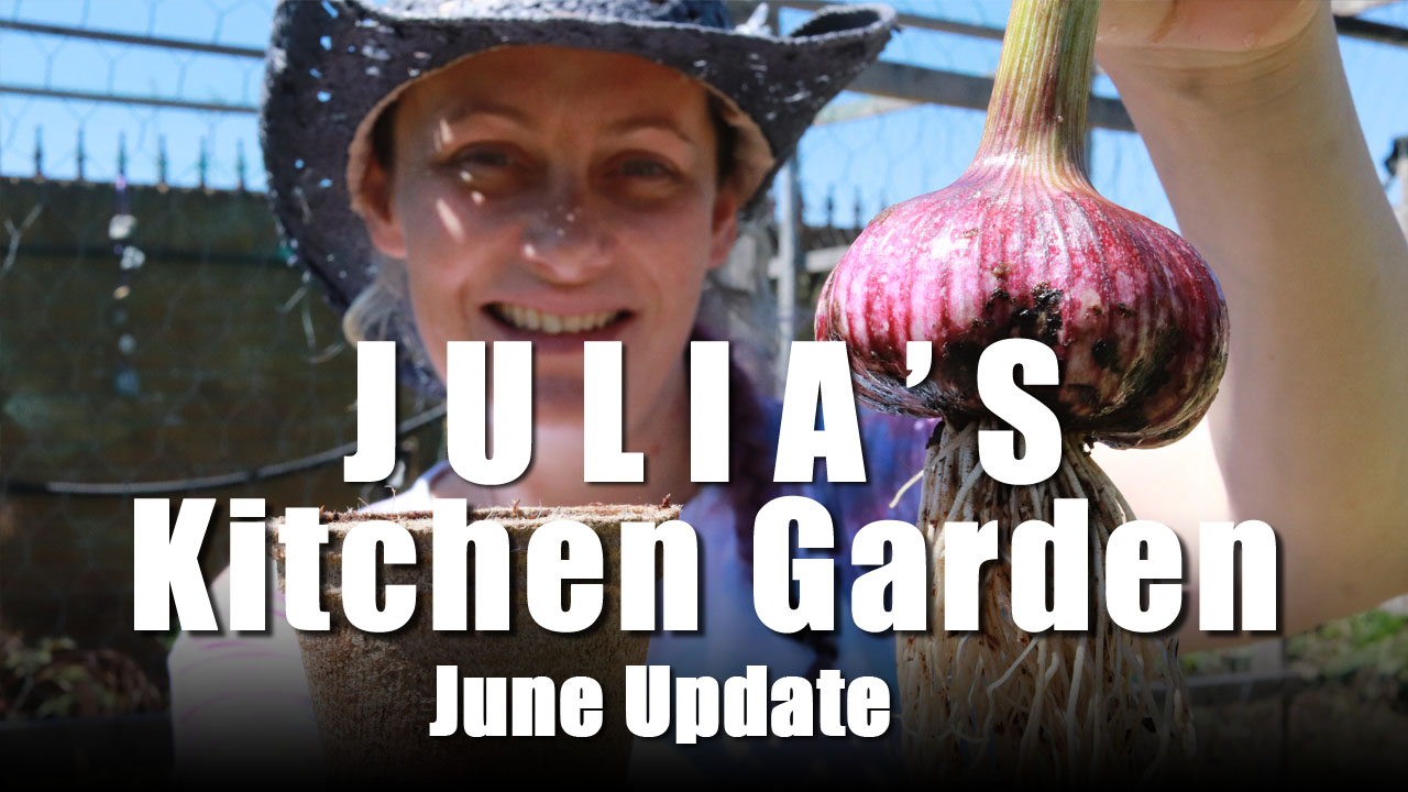 Julia's Kitchen Garden - Episode 3 Garlic and Carrots