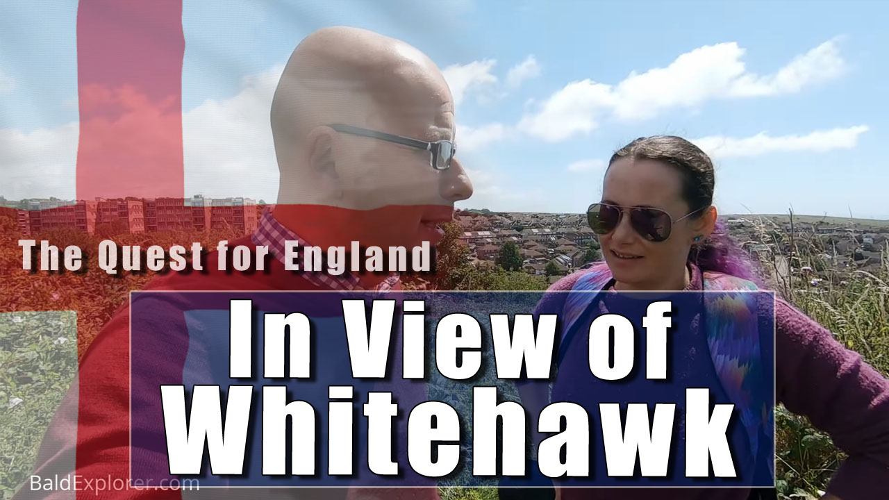 The Quest For England in Julia and I Take a Walk Over Whitehawk Hill Near Brighton
