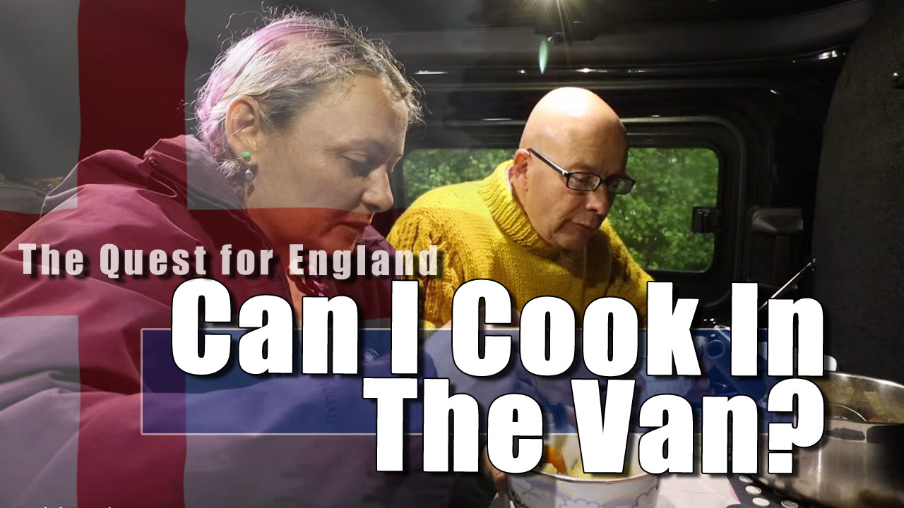 The Quest For England - Cooking Julia Soup From the Van!