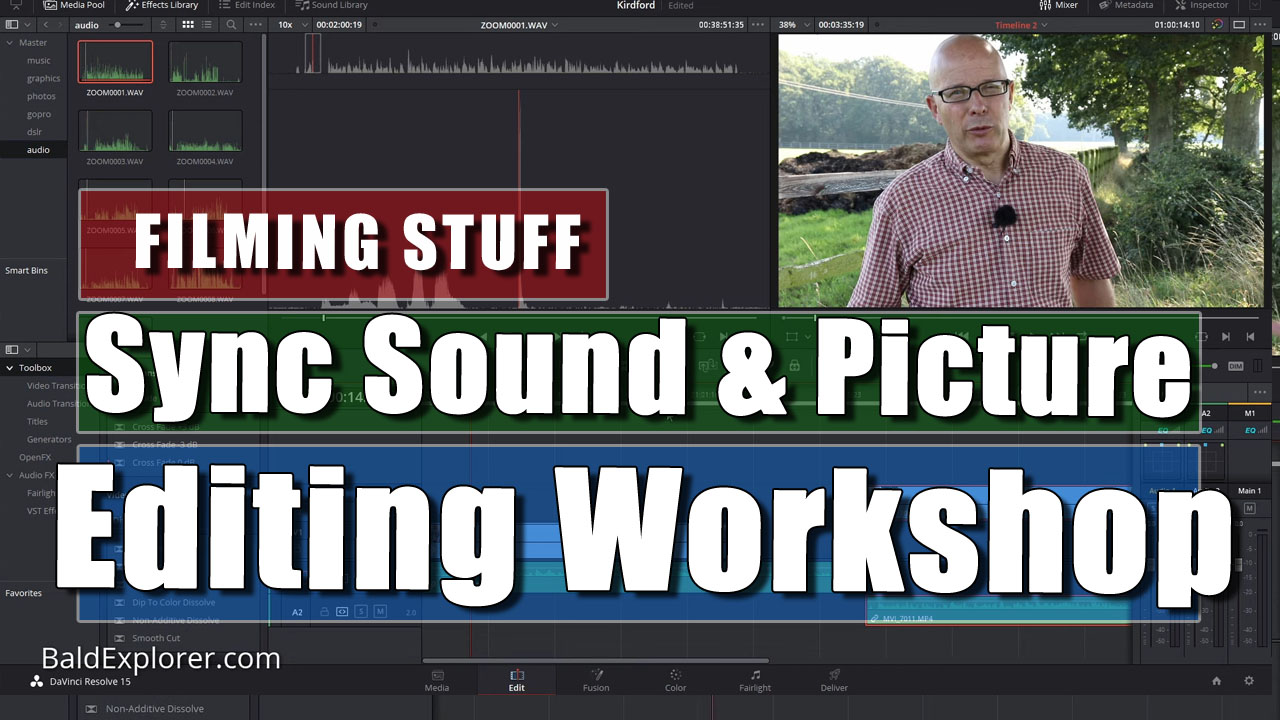 Filming Stuff - How to Sync Up Separate Picture and Sound