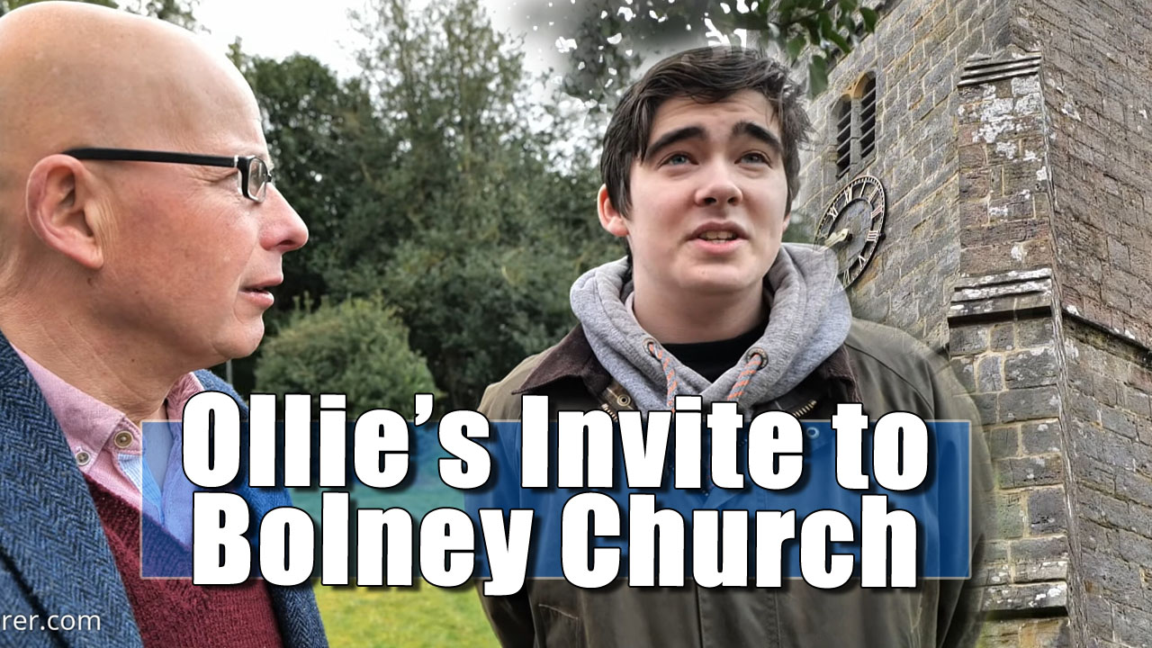 Ringer Ollie invites me to join him for a look at Bolney Church