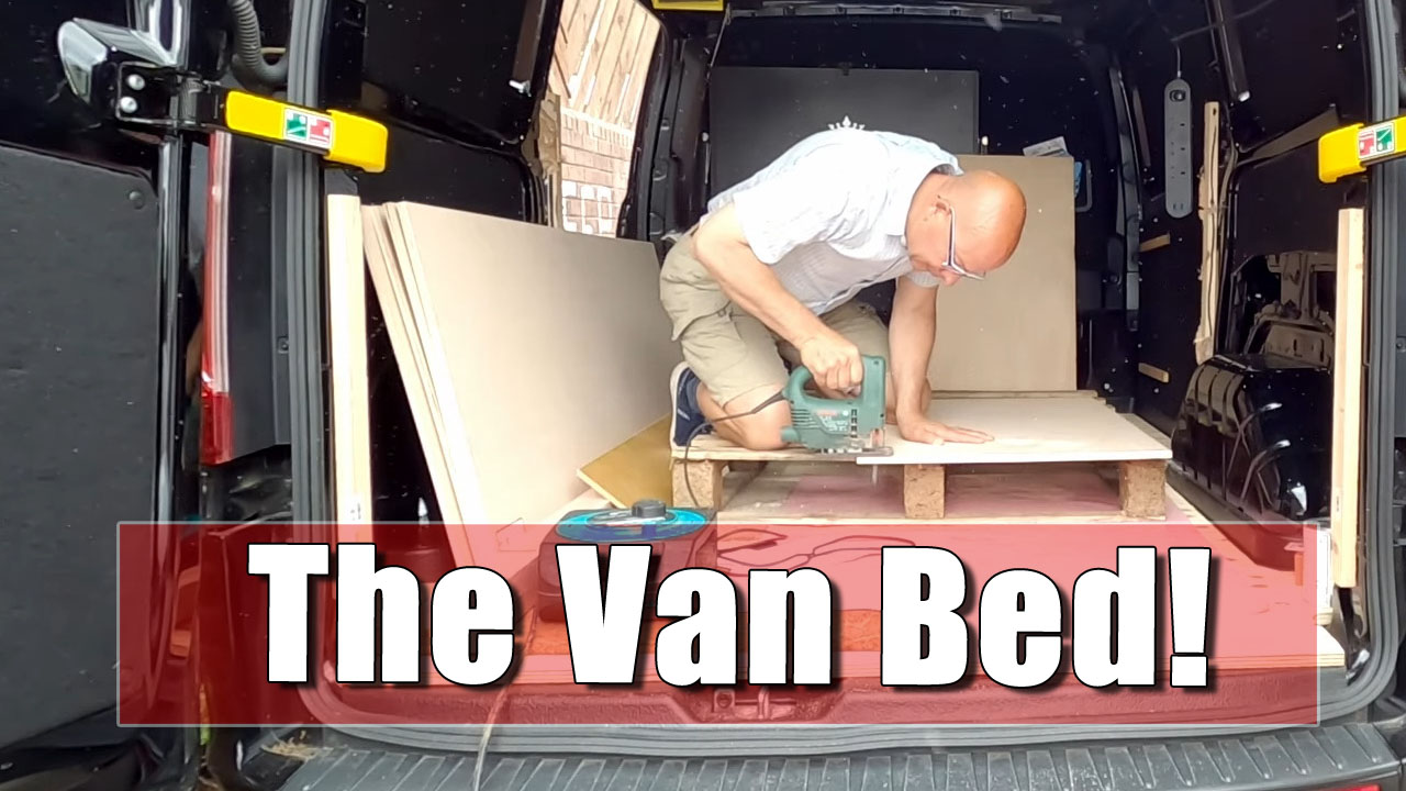 My Van Build - Fitting the bed and Seat, and Storage