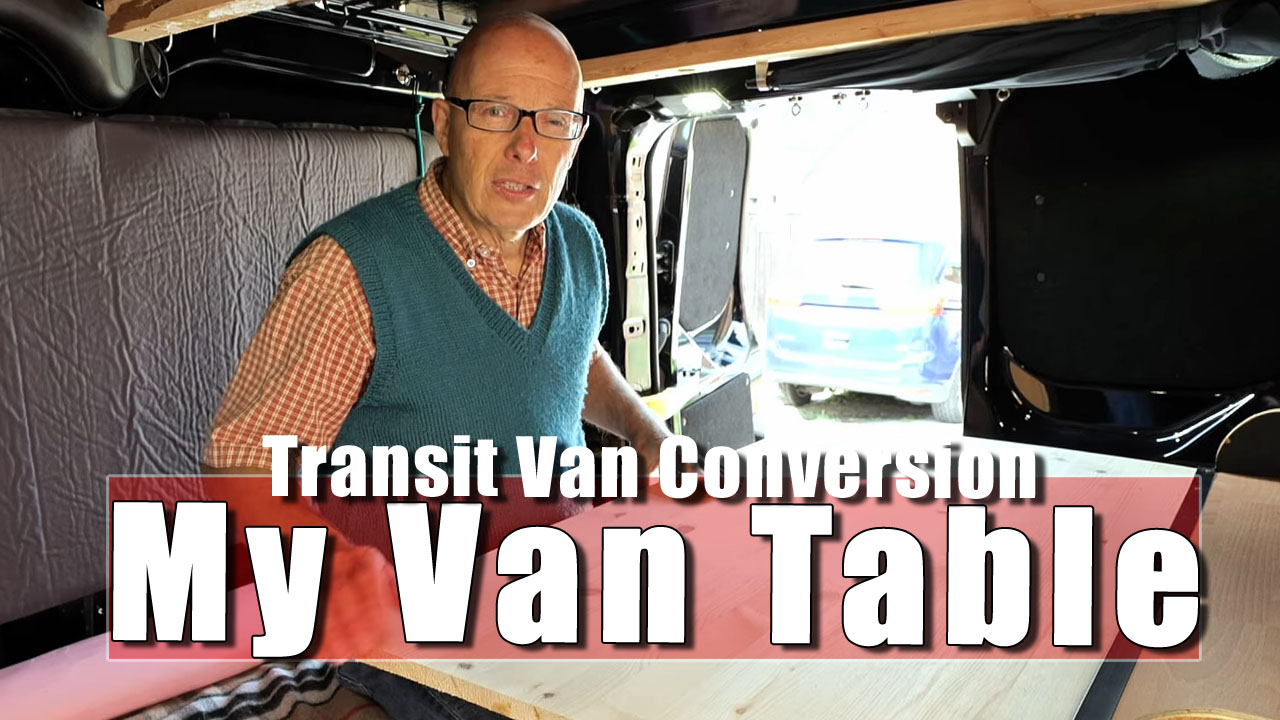 The Van Table is Constructed Before Your Very Eyes!