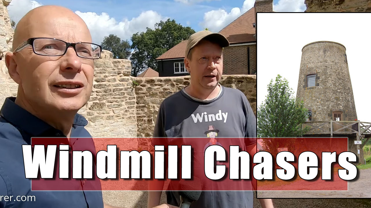 The Windmill Chasers - Bob and I and explore two windmills in West Sussex